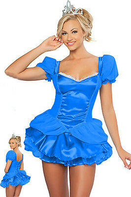Sexy Blue Princess Hallowen Costume](Hallowen Costums)