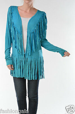 New T-PARTY FRINGE WESTERN Mineral Wash CARDIGAN JACKET, S M L  ](Western Parties)