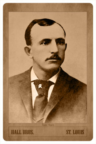TOM HORN Old West Scout Lawman Gunfighter Vintage Photograph Cabinet Card RP