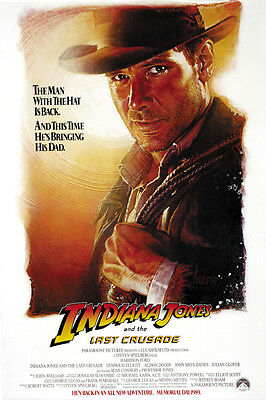 Indiana Jones And The Last Crusade  1989  Harrison Ford Movie Poster Print 2