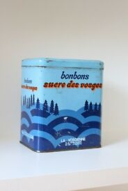 French vintage metal box