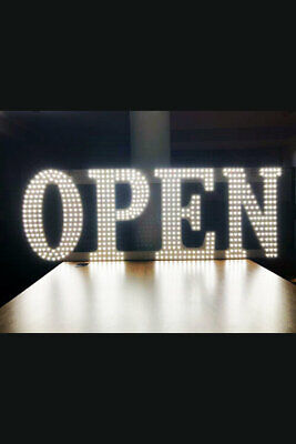Large 17x51 Led Business Sign Open Light Bar Store Shop Display Board