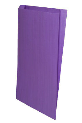 Closeout Price 500 Purple Gusseted Paper Merchandise Bags 14 X 3 X 21