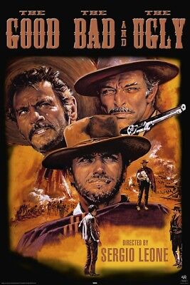 Clint Eastwood Movie Poster The Good Bad And Ugly  Size 24X36