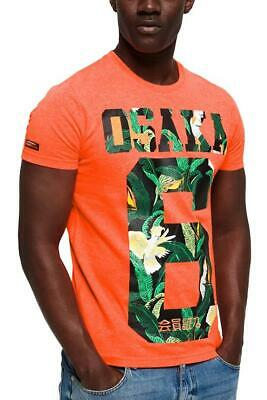 "SuperDry Radiant-Orange Osaka Mid-Weight Graphic Tee N4B ""X-Large"""
