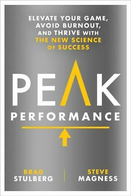 Peak Performance   Stulberg  Brad  Magness  Steve   New Hardcover Book
