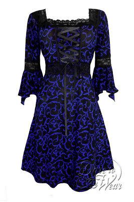 Dare to Wear Victorian Gothic Plus Size Renaissance Corset Dress Paris by Night (Gothic Formal Wear)