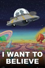 RICK AND MORTY - I WANT TO BELIEVE POSTER 24x36 - 160561