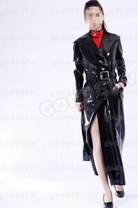 100% Latex Rubber Gummi Coat 0.8mm Jacket Catuit Suit Outfit Wear Zentai Unique