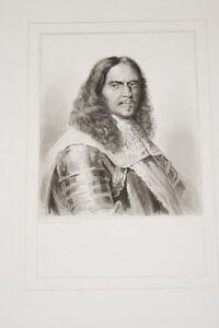 Portrait-Marechal-de-TURENNE-GRAVURE-ACIER-VERSAILLES