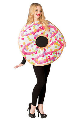 Adult White Frosted Donut Costume](Adult Donut Costume)