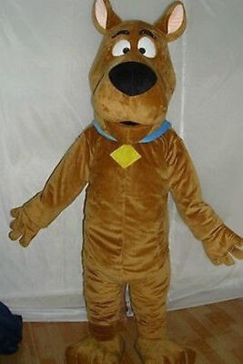 Scooby-doo dog brown character fancy dress Cartoon Mascot Costume Adult Suit