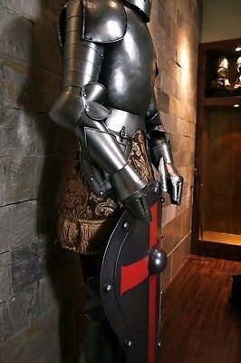 Stainless Steel Medieval Knight Suit Of Armor Combat Full Body Armour & Shield