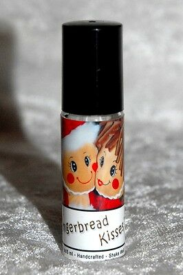 HANDMADE GINGERBREAD KISSES ESSENTIAL OIL PERFUME ROLL ON CHOCOLATE CINNAMON