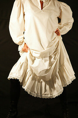 Steampunk-Victorian-Edwardian-Cosplay-Larp-FRILLED PETTICOAT All Sizes Teen-Plus - Teen Steampunk Costume