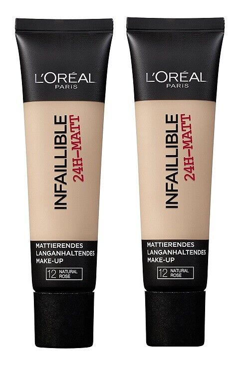 2x 35ml L'Oréal Loreal Paris Make Up Infaillible / indefectible  24h Matt