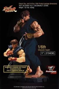 TRADING Street Fighter Evil Ryu 1/6 Statue for Nintendo Switch