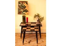 Vintage Mid Century Retro Tiled Side Tables