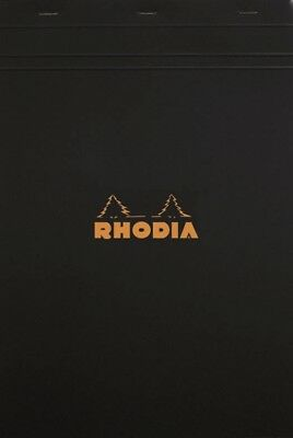 Rhodia Staplebound - Notepad - Black - Graph - 8.25 X 11.75 - R182009