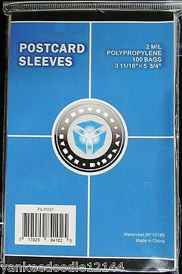 1000 PSD Soft Polypropylene Postcard Sleeves - 3 11/16 X 5 3/4 holders
