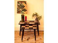 Vintage Mid Century Retro Tiled Side Tables (x2)