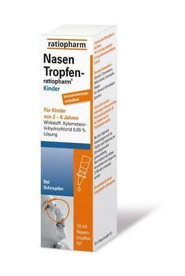 NasenTropfen-ratiopharm Kinder konservierungsmittelfrei 10 ml PZN: 5006059