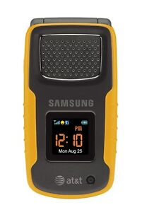 New Samsung Rugby II A837 - Yellow AT&T Unlocked Cellular Flip GSM Cell Phone