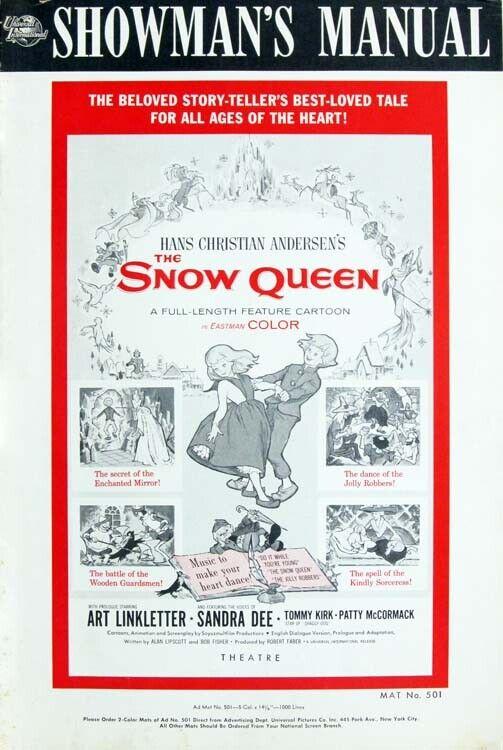 THE SNOW QUEEN great PRESSBOOK 1960
