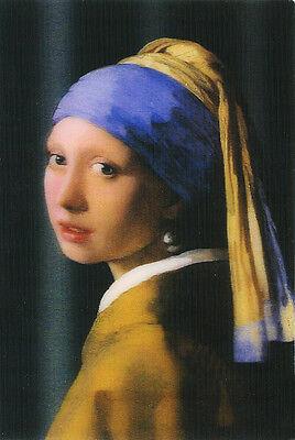 Jan Vermeer Girl (Jan Vermeer Girl with Pearl Earring - 3D Lenticular Postcard Greeting)