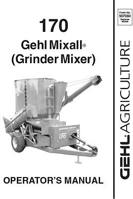 New Gehl 170 Mixall Grinder Mixer Operators Owners Manual 907585 Bound Book