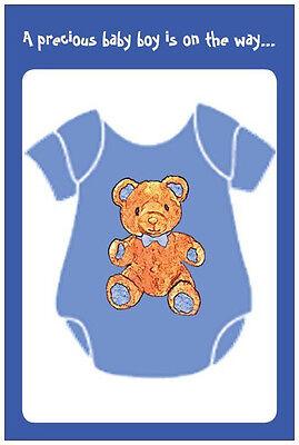 20 Romper Bowtie TEDDY BEAR BOY Baby Shower POSTCARDS Postcard INVITATIONS (Teddy Bear Baby Shower Invitations)