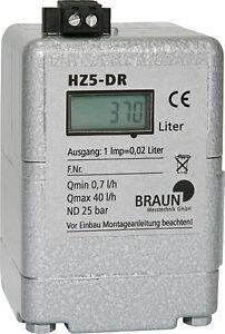 Braun Ölzähler HZ 5 DR LCD Zählwerk Heizölzähler Öl Zähler HZ5 Heizung Brenner