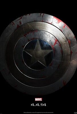 Captain America Movie Poster Chris Evans Poster   11 X 17 Inches Shield Advance
