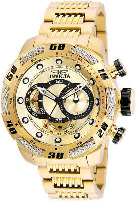Invicta Men's Speedway Quartz Chrono 100m Gold-Plated s. Steel Watch 25482