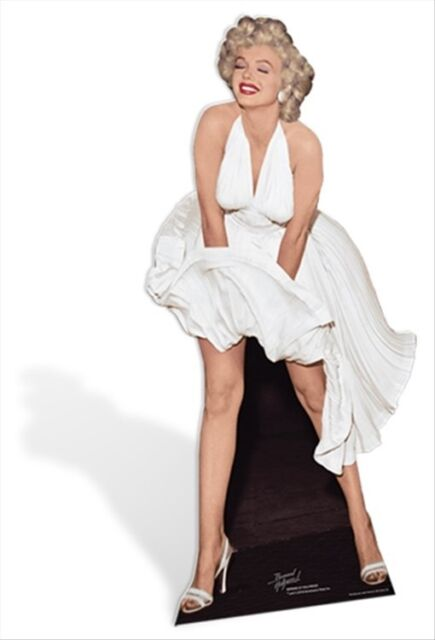 Marilyn Monroe Blowing White Dress Official Lifesize Celebrity Cardboard Cutout
