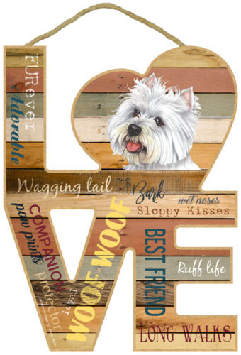 Westie Dog Wood Decorative Hanging Sign Home Gift West Highland White Terrier