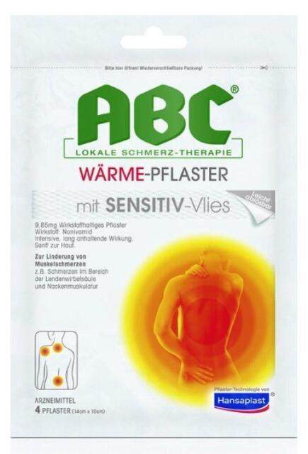 Hansaplast MED ABC Wärme-Pflaster Sensitive 4St PZN: 1033409