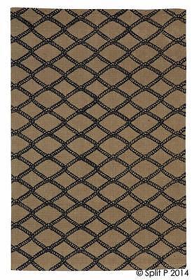 Marina Rope Netting Pattern 4'x6' Jute Rug ](Jute Netting)