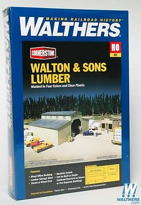 3057 Walthers Cornerstone Walton & Sons Lumber Yard Company --Kit HO scale