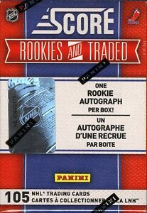 2010-11 SCORE ROOKIES AND TRADED HOCKEY FACTORY SEALED BOX SET 1 AUTO RC PER BOX