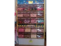 PICK AND MIX STAND, USED, 20 BIN, VERY GOOD CONDITION - COLLECTION ONLY FROM ILKESTON DE7
