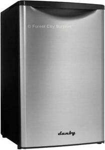 DANBY DAR044A 4.4 CUBIC FOOT BAR FRIDGES WITH STAINLESS STEEL DOOR - Compare Surplus Prices !!!