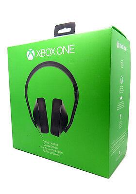 New Microsoft Xbox One Stereo Black Gaming Headband Headsets Mic & Adapter