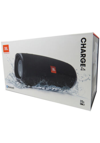 JBL Charge 4 Portable Waterproof Wireless Bluetooth Speaker Black Authentic