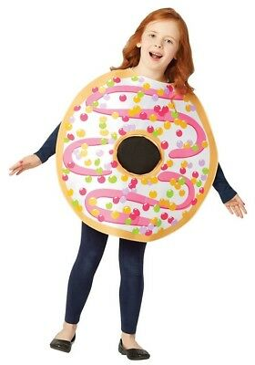 Kids White Frosted Donut Costume - Kids Donut Costume