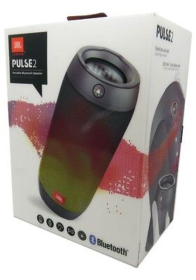 New JBL Pulse 2 by Harman Portable Wireless Bluetooth Speaker Splashproof Lights