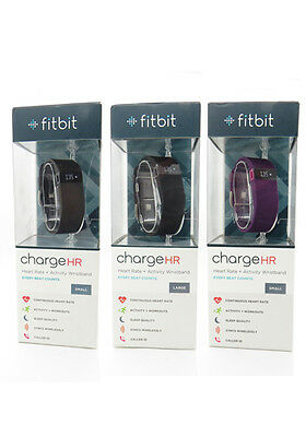 New Fitbit Charge Hr Activity Fitness Heart Rate   Sleep Wristband Large   Small