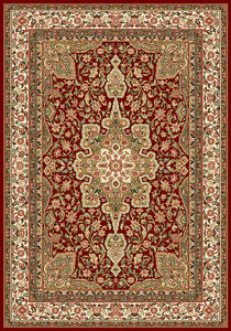 BURGUNDY RED ORIENTAL AREA RUG 4 x 6 SMALL PERSIAN 83 - ACTUAL 3' 6