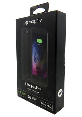 New OEM Mophie Juice Pack Air 2420mAh Battery Case For iPhone 7 PLUS Black