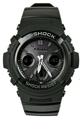 Casio G-Shock Ana-Digi Tough Solar Atomic 200m Black Resin Watch AWGM100B-1A